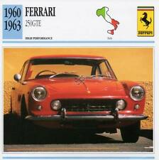 1960-1963 FERRARI 250GTE Classic Car Photo/Info Maxi Card