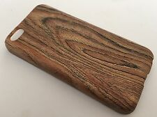 Apple Iphone 5C cover case protective hard back wood grain wooden oak m brown