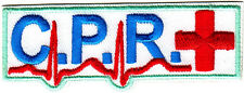 """""""C.P.R"""" w/RED CROSS/ Iron On Embroidered Patch/Nurse, Profession,Medical"""