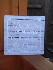 shabby vintage chic there is always room for wedding cake table sign plaque 6x6