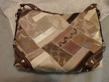Coach CHELSEA KATARINA Patchwork Canvas Leather Purse Great Condition!!