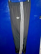 ADIDAS Vintage FIREBIRD TRACK PANTS Black 3 Stripe - LARGE
