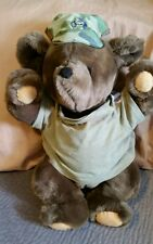 US 3rd Infantry Nous Resterons LA Brown Plush Teddy Bear w/ Pin Military Army