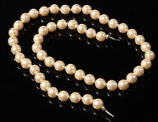 """16"""" necklace strand (50) vintage Czech early faux pearl coated glass beads"""