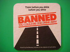 Beer Bar COASTER ~*~ British Brewing Industry ~ Think Before You Drink and Drive