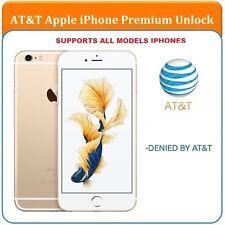 SEMI PREMIUM AT&T Factory Unlock Code Service iPhone 4 4S 5 5C 5S 6 6+ 6s 6s+