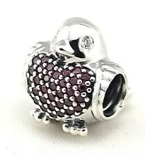 PAVE RED ROBIN .925 Sterling Silver European Charm Bead R2