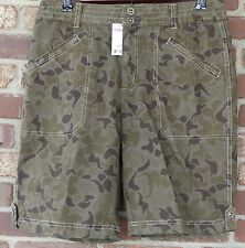 Women's NEW Gander Mountain 8 Ripstop Floral Camouflage Shorts Green Flower Mtn.