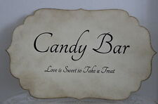 CANDY BAR SIGN-Candy Bar-Buffet-Cart-Wedding-Vintage Style-Handmade for You-FAB