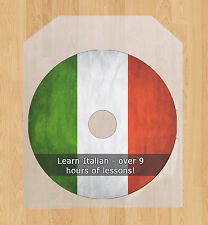 Learn how to speak the Italian language course, 9 hrs tutorial talk lessons CD