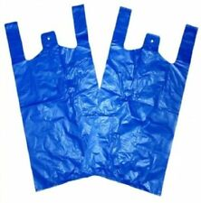 1000 Extra Strong Vest Style Carrier Bags Blue 11x17x21 18mu