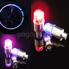 4x Multi Color LED Wheel Valve Stem Cap Tire Light Lamp For Bike Bicycle Car