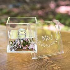 Woodland Personalized Unique Wedding Ring Bearer Pillow Alternative Acrylic Box