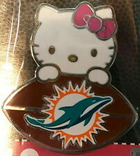 Hard Rock Cafe STADIUM Miami Dolphins 2016 Hello Kitty w/ FOOTBALL PIN on CARD!