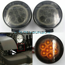 2pcs Front Grill LED Turning Signals Lights For 07-15 Jeep Wrangler Newest Parts
