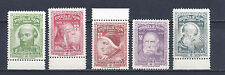PANAMA 1964 STAMPS - POPES - FIRST 5 OF 12 (CAT V= $100.00 X SET OF 12) MINT NH