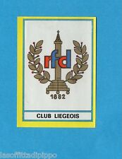 BELGIO-FOOTBALL 75-PANINI-Figurina n.171- SCUDETTO/ECUSSON - CLUB LIEGEOIS -Rec