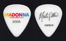 Madonna Monte Pittman Signature White Guitar Pick - 2008 Sticky & Sweet Tour