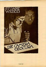 1926 Ludwig Hohlwein Poster Print Stuart Webbs Die Camera Obscura Grosse Chef
