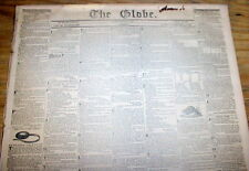 1836 Washington Globe DC newspaper w frnt pg AD -Wanted to buy: 200 NEGRO SLAVES