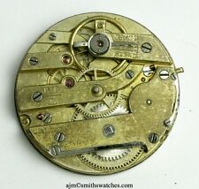LECOULTRE SIGNED  CYLINDER FOB WATCH MOVEMENT   BB19