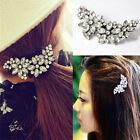 Bridal Wedding Flower Crystal Rhinestone Headband Hair Clip Comb Pin Diamante