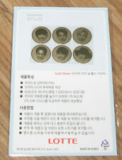 EXO LOTTE PEPERO OFFICIAL ELECTROMAGNETIC WAVE BLOCKING'S GOLD STICKER NEW
