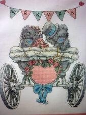 Wedding sampler Tatty Ted counted cross stitch kit DMC 14 count aida Me To You