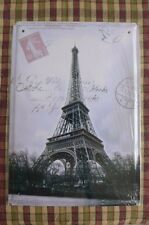 Paris Eiffel Metal Sign Painted Poster Wall Art Home Shop Pub Club Canteen Home