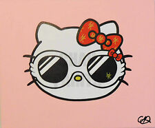 """designer kitty"" hello kitty original acrylique peinture 60cm x 50cm x 1.5cm"
