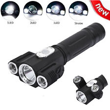 NEW 8000LM CREE XM-L T6+2R5 LED Flashlight 18650 Magnet Torch 4 Modes Light Lamp