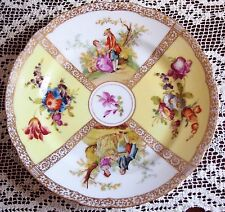 Antique Dresden Plate 21 Cms 'Romantic Couples' (1867 to 1888)
