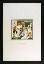1843 Henry Shaw Print - Birth of St. Edmund - Middle Ages England Saint
