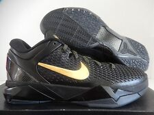 NIKE ZOOM KOBE VII 7 SYSTEM ELITE BLACK-METALLIC GOLD-GREY SZ 8 [511371-001]