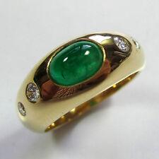 468 - Exquisiter Ring - Gelbgold 750 - Smaragd und Brillanten --- Video 1943/17