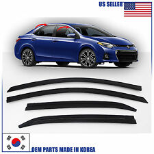 D015 SMOKED DOOR WINDOW VENT VISOR SUN DEFLECTOR TOYOTA COROLLA 2014-2015-2016