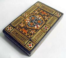 Vintage Straw work cigarette box or dispenser vintage / antique tobacciana 11055