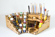Model Painting Corner Paint and Tool Rack Kit  90° (Vallejo, Citadel, Model)