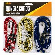 6 NEW BUNGEE STRAPS CORDS SET WITH HOOKS ELASTICATED ROPE CORD CAR BIKE LUGGAGE