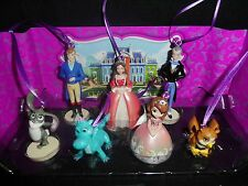 Disney Sofia the First Christmas Ornaments 7pc Figure Set Gift Crackle Clover ..