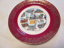 "Collectible Homer Laughlin Wyoming Souvenir Plate A54 N8 --7-1/4"" -  Gold trim"