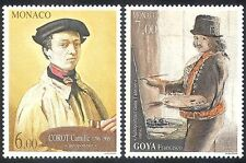 Monaco 1996 Goya/Corot/Art/Artists/Painters/Painting/People 2v set (n40252)