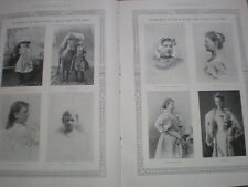Printed photos of Queen Wilhelmina of Netherlands from cradle to throne 1898