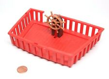 Playmobil Pirate Ship Red Upper Hull Poop Deck Wheel Stand 4424 5736