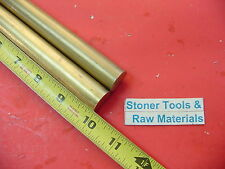 """2 Pieces 7/8"""" C360 BRASS SOLID ROUND ROD 10"""" long New Lathe Bar Stock .875"""" H02"""