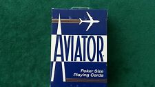 1 Brand New Blue Deck Aviator Poker Regular Index Playing Cards Bicycle