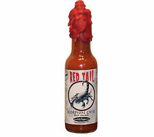 Scorpion Hot Sauce Trinidad Moruga Red Tail Wax Sealed Skull Very Hot Gift