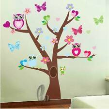 Owl Tree Wall Stickers Removable Vinyl Home Decal Nursery Decor AU SELLER w024