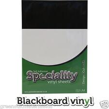 A4 Sticky Backed Chalk Blackboard Vinyl Sticker Craft Sheets Cameo 2 Portrait