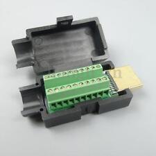 HDMI 19P Prise Peritel Adaptateur HDMI Mâle Connecteur Convertisseur Terminal